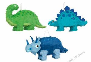 DINOSAUR PINATA BOYS BIRTHDAY PARTY GAME 3 DESIGNS T- Rex Stegosaurus Triceratop