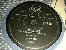 ELVIS PRESLEY :  I GOT STUNG  /  LET ME.  South Africa.78 rpm. (1959)