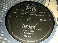 ELVIS PRESLEY :  I GOT STUNG  /  LET ME.  South Africa.78rpm. (1959)