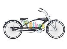 """Micargi Puma GTS Stretch, Black - 26"""" Beach Cruiser Bike"""