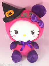 Hello Kitty pink purple Halloween Kawaii witch Panda plush 11' Sanrio Japan BIG