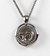 Stephen Webster Metallic Sterling Silver Aquarius Pendant chain Necklace Zodiac