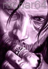 1/1 print ACEO sketch card LORD OF THE RINGS Viggo Mortensen ARAGORN
