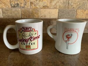 Lot of 2~ RUBY'S DINER Restaurant Heavy Duty Diner Coffee Cups