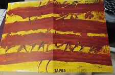 Antoni Tàpies Derriere Le Miroir Nr.200 vom 1972 mit 4 Originalfarblithographien