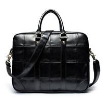 Fashion Mens Black Soft Leather Handbag Business Briefcase Laptop Shoulder Bag