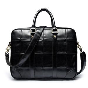 New Business Mens Leather Briefcase Handbag Laptop Shoulder Bag