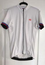 new Bellwether Phase Men's Short Sleeve Full Zip 4 Pocket Jersey Top White Large