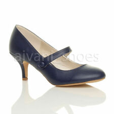 Scarpe da donna slim blu con tacco medio (3,9-7 cm)