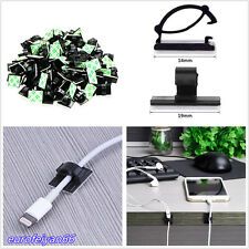 100 Pcs Car Off-Road Nylon Plastic 3M Self-adhesive Cable Wire Clips Holders Kit