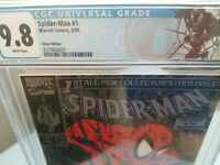 SPIDER-MAN #1 SILVER CGC 9.8 NM/M TODD MCFARLANE 1st CGC VENOM LABEL WHITE PAGES