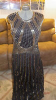 Black Evening Gown Maxi Dress Sheath New Years Eve Formal Evening dress NWOT L