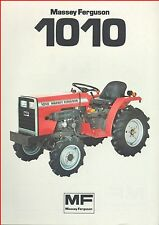 French Original  Prospect  Tracteur Tractor Massey Ferguson MF 1010 _  2 Pages