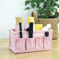 Cotton Linen Desktop Storage Box Case Cosmetic Organizer Stationery Basket 6A