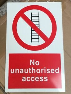 Prohibition Sign - No Unauthorised Access - 300x200mm Safety Signs