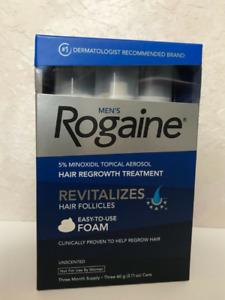 NEW Men's Rogaine 5% Minoxidil Hair Regrowth Treatment Foam - 3 Months Supply