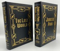 SIGNED Easton Press 2V JURASSIC PARK LOST WORLD LIMITED Edition SCARCE *SEALED!*