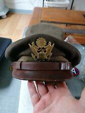 Superbe casquette officier armée us 7 3/8 ww2 original