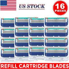 New 16PCS for Mens Gillette FUSION Proglide Power Razor Shaver Blades 5-Layer US