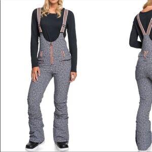 Roxy pop snow suit summit bib ski pants womens size large