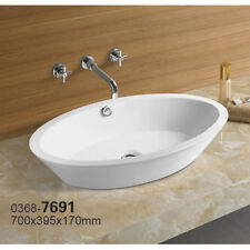 Bathroom  Ceramic Porcelain  Vessel Vanity Sink & Chrome Pop Up Drain 7691