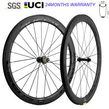 New Superteam Wheels 700C Clincher 50mm Carbon Wheelset Road Bicycle 25mm Wheels