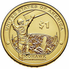 "2015 P & D Native American $1 Coin ""Mohawk IronWorkers"""