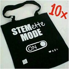 + x10 STEMETTE MODE SHOPPING BAGS TOTE SHOULDER SHOPPER HANDBAG 41x37cm 35,1