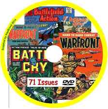 Battlefield Action, Warfront & Battle Cry Comics on DVD 71 issues