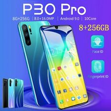 Sky Blue 6.3inch 8+256GB Mobile Phone MTK6797 10 Core Android 9.1