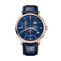 Edox Men's Les Bemonts 42mm Leather Band Swiss Quartz Watch  01651 37R BUIR