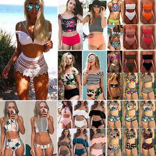 Women High Waist Bikini Set Push Up Padded Ladies Swimsuit Bathing Suit Swimwear