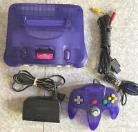 N64 Grape Purple Nintendo 64 Console Funtastic Bundle OEM Controller TESTED