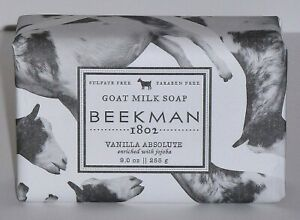 Beekman 1802 Vanilla Absolute Goat Milk Bar Soap 9 oz Brand New Sealed