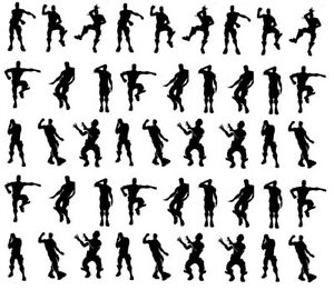 45pc Vinyl Decal Emote Gaming Stickers Funny Dance Moves Small, PS4 XBOX Laptop