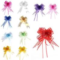 10Pcs Pull Bows Ribbons Wedding Flower Car Birthday Wrap Present Decor
