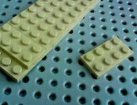 Lego Plate 2x4 [3020] Beige Tan x12