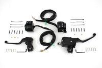 "11/16"" Handlebar Control Kit Black for 1996-2006 Dual Disc HarleyDavidson"