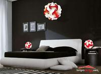 Lampadario design 50 cm + 2 lampade da comodino Luci x camera da letto Vintage