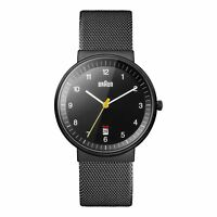 Braun Men's BN0032BKBKMHG Analog Display Analog Quartz Black Watch