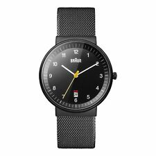 Braun Men's BN0032BKBKMHG Analog Display Analog Quartz Black Watch