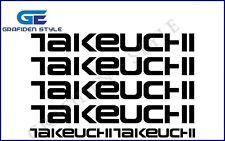 6 Stück TAKEUCHI - Bagger Aufkleber - Sticker - Decal !