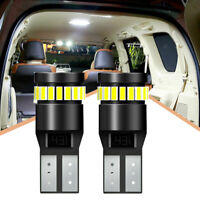 2pcs T10 194 501 W5W SMD 24 LED Car CANBUS Error Free Wedge Light Bulb White