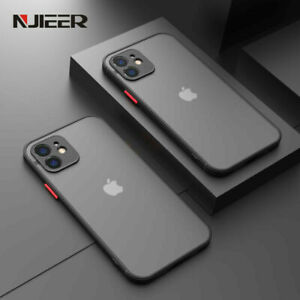 BLACK COVER For iPhone 11 12 Pro Max XS XR 8 7 SE2 Shockproof Bumper CLEAR Case