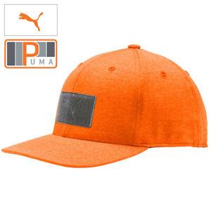 Puma Mens Utility Patch 110 Snapback Hat Golf Cap - New 2021