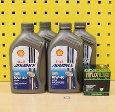YAMAHA 4 L Huile + Filtre à Huile Shell Advance Ultra 10w40 vollsynthetik d'huile r6 r1 FZ