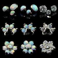Fire Opal Zircon Ear Cartilage Tragus Helix Piercing Jewelry Earrings