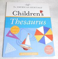 American Heritage Childrens Thesaurus Houghton Mifflin Paul Hellweg 2010 HC
