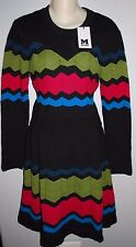 $895 NWT NEW WOMEN'S MISSONI M MULTI COLOR KNIT DRESS SIZE 10 OR 46