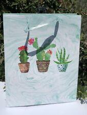 New Cactus Cacti Design Gift Bag - 10.2� X 12.6� X 3.9� Birthday Occasion